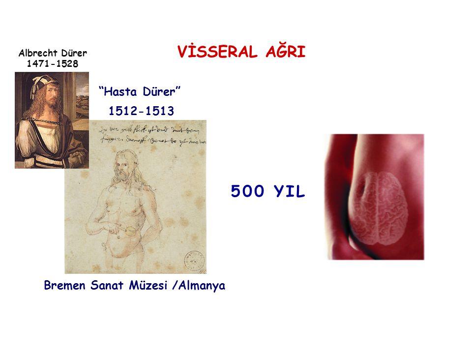 VİSSERAL AĞRI 500 YIL Hasta Dürer 1512-1513