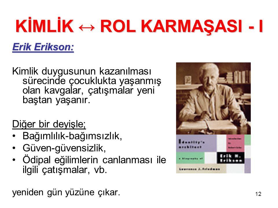 KİMLİK ↔ ROL KARMAŞASI - I