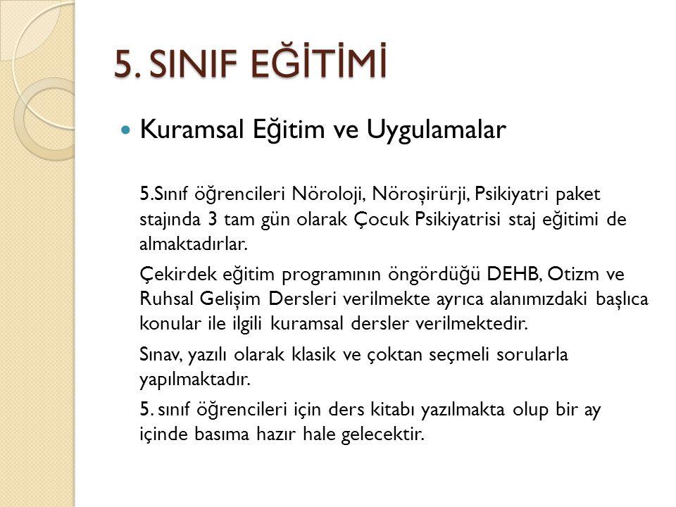 5. SINIF EĞİTİMİ Kuramsal Eğitim ve Uygulamalar