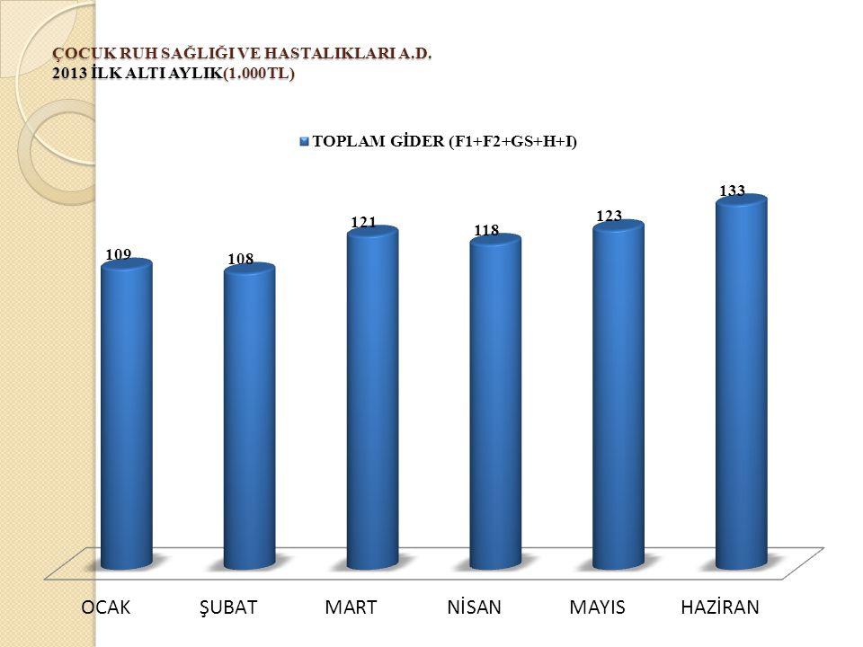 ÇOCUK RUH SAĞLIĞI VE HASTALIKLARI A.D. 2013 İLK ALTI AYLIK(1.000TL)