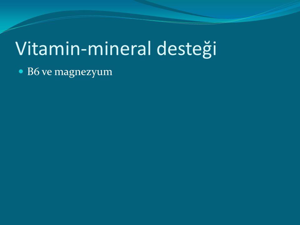 Vitamin-mineral desteği