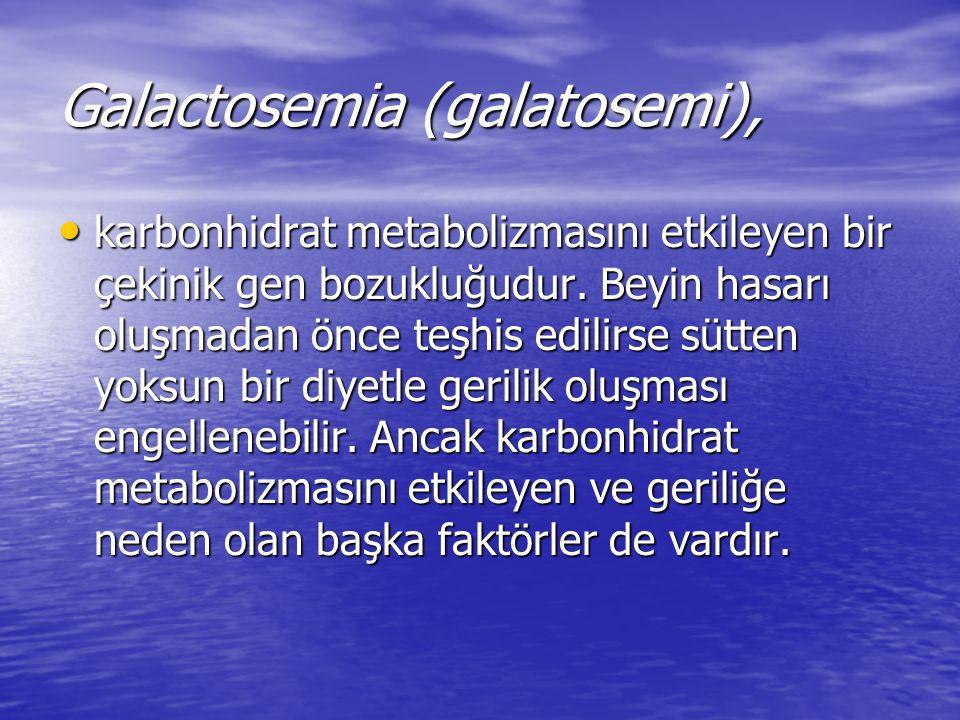 Galactosemia (galatosemi),