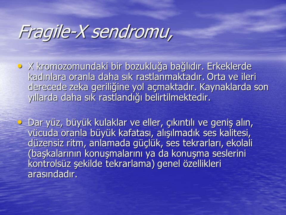 Fragile-X sendromu,