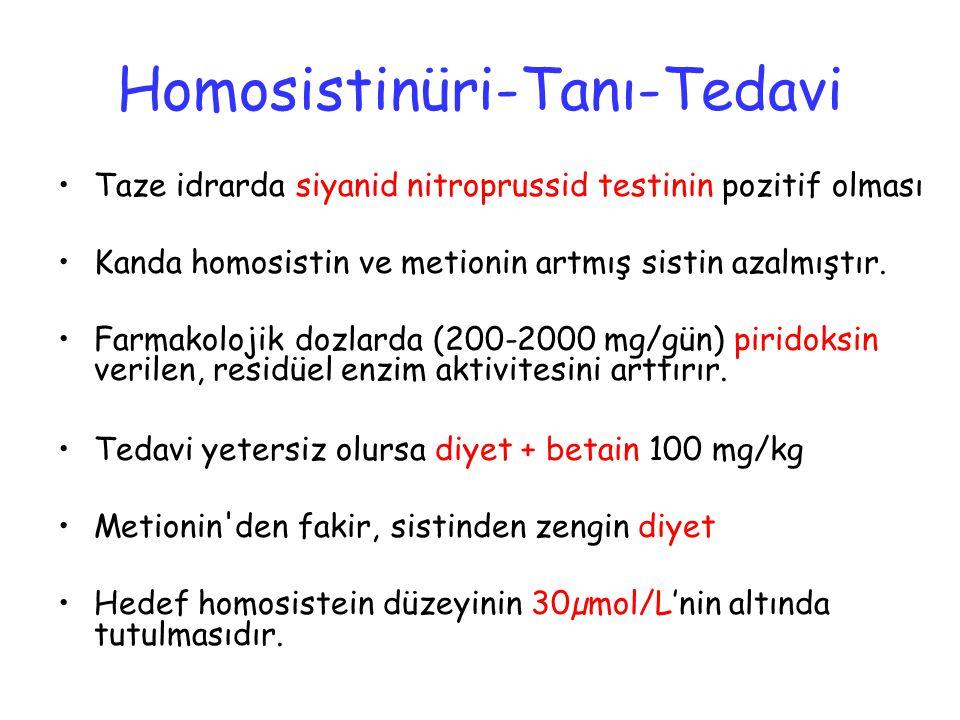 Homosistinüri-Tanı-Tedavi