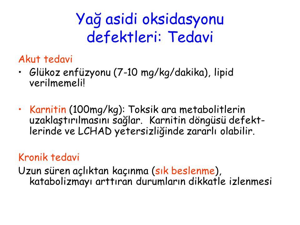 Yağ asidi oksidasyonu defektleri: Tedavi