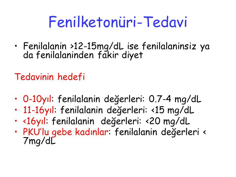 Fenilketonüri-Tedavi