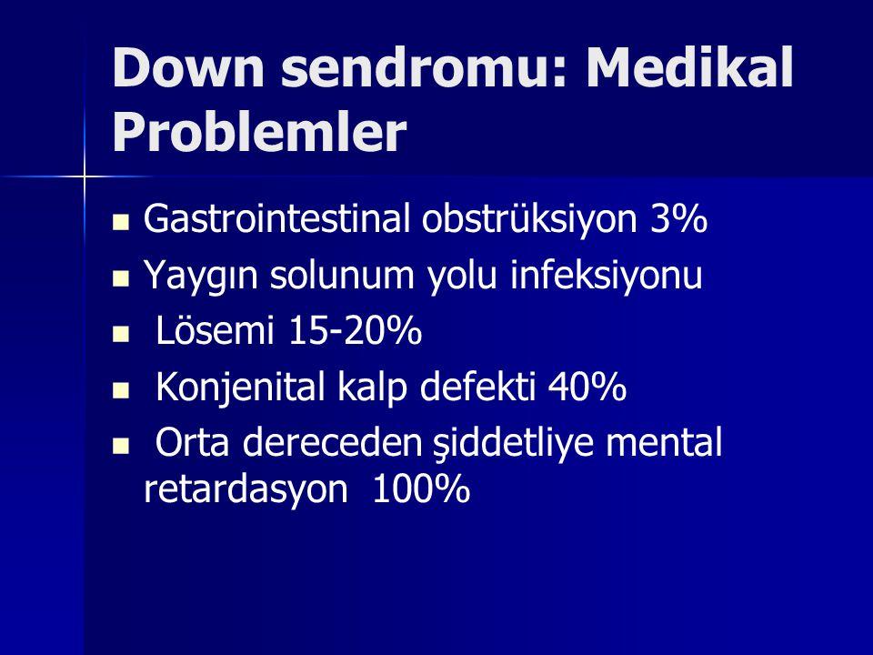 Down sendromu: Medikal Problemler