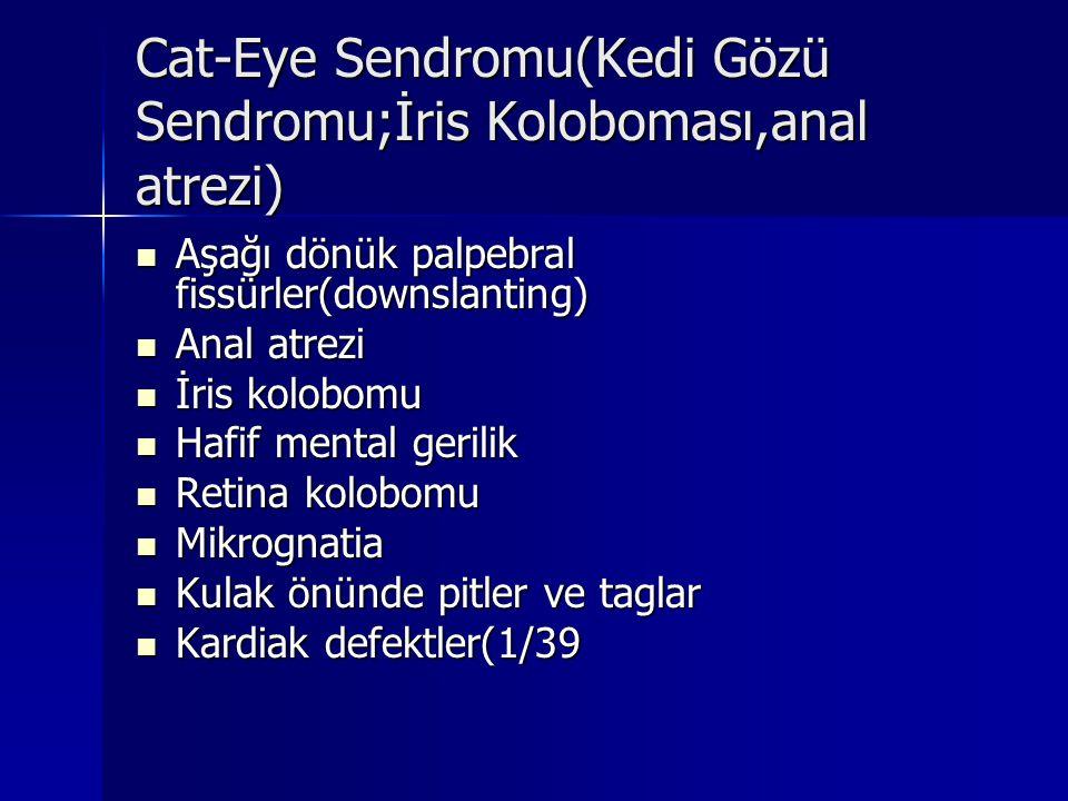 Cat-Eye Sendromu(Kedi Gözü Sendromu;İris Koloboması,anal atrezi)
