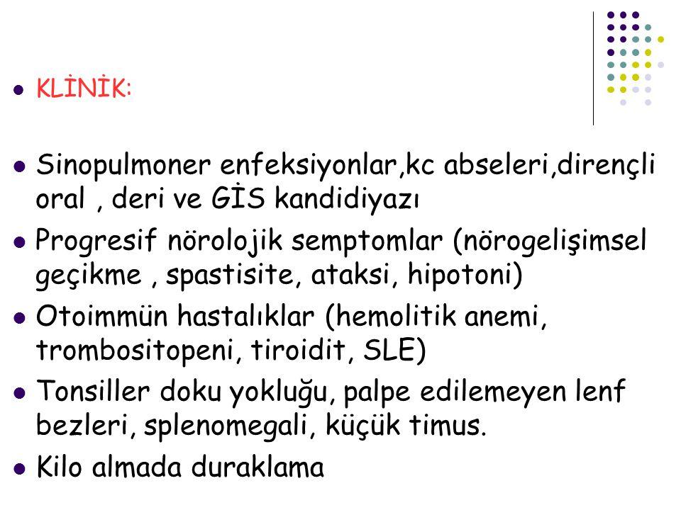 Otoimmün hastalıklar (hemolitik anemi, trombositopeni, tiroidit, SLE)