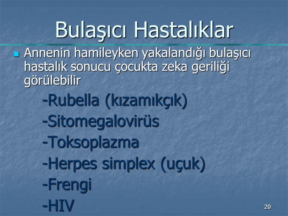 Bulaşıcı Hastalıklar -Rubella (kızamıkçık) -Sitomegalovirüs