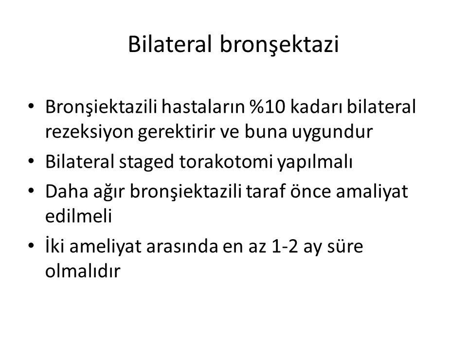 Bilateral bronşektazi