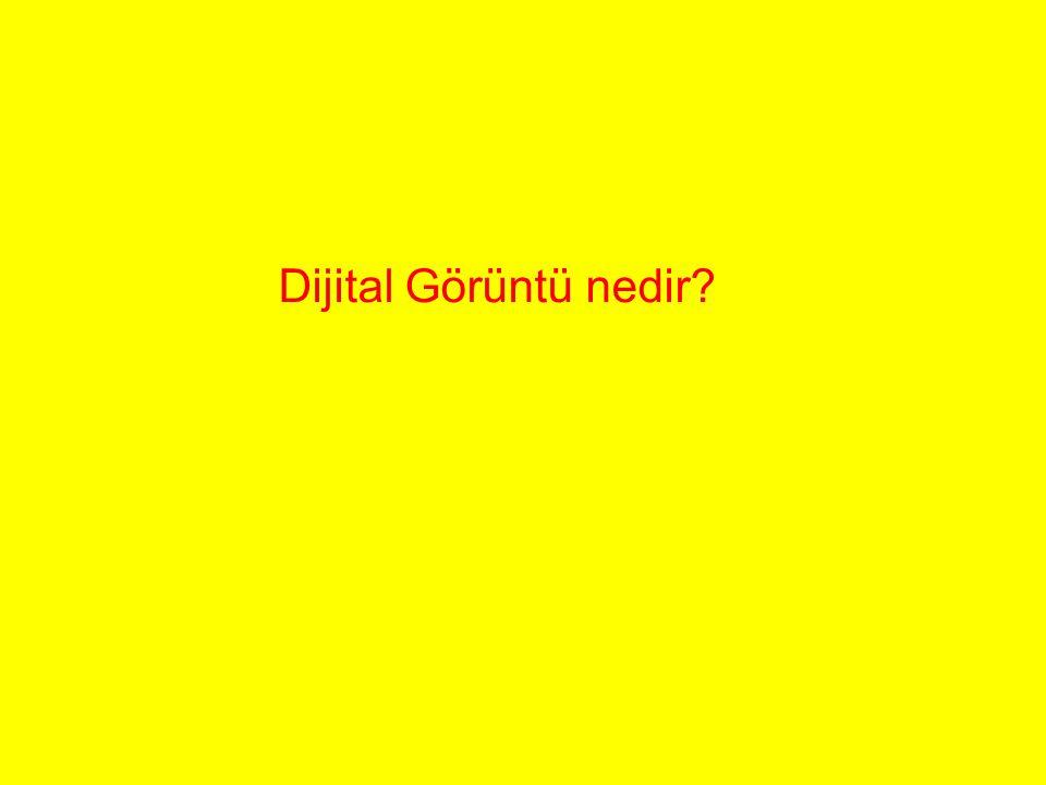 Dijital Görüntü nedir
