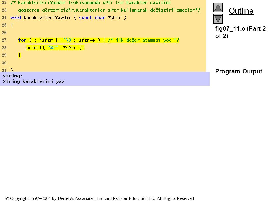 fig07_11.c (Part 2 of 2) Program Output