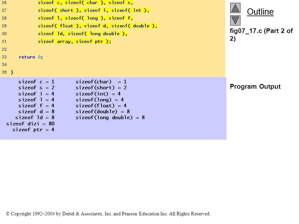 fig07_17.c (Part 2 of 2) Program Output