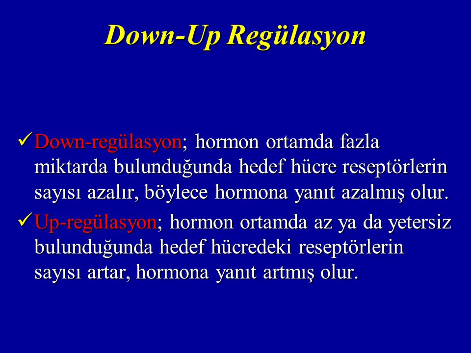 Down-Up Regülasyon