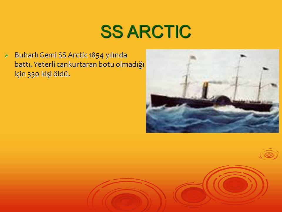 SS ARCTIC Buharlı Gemi SS Arctic 1854 yılında battı.