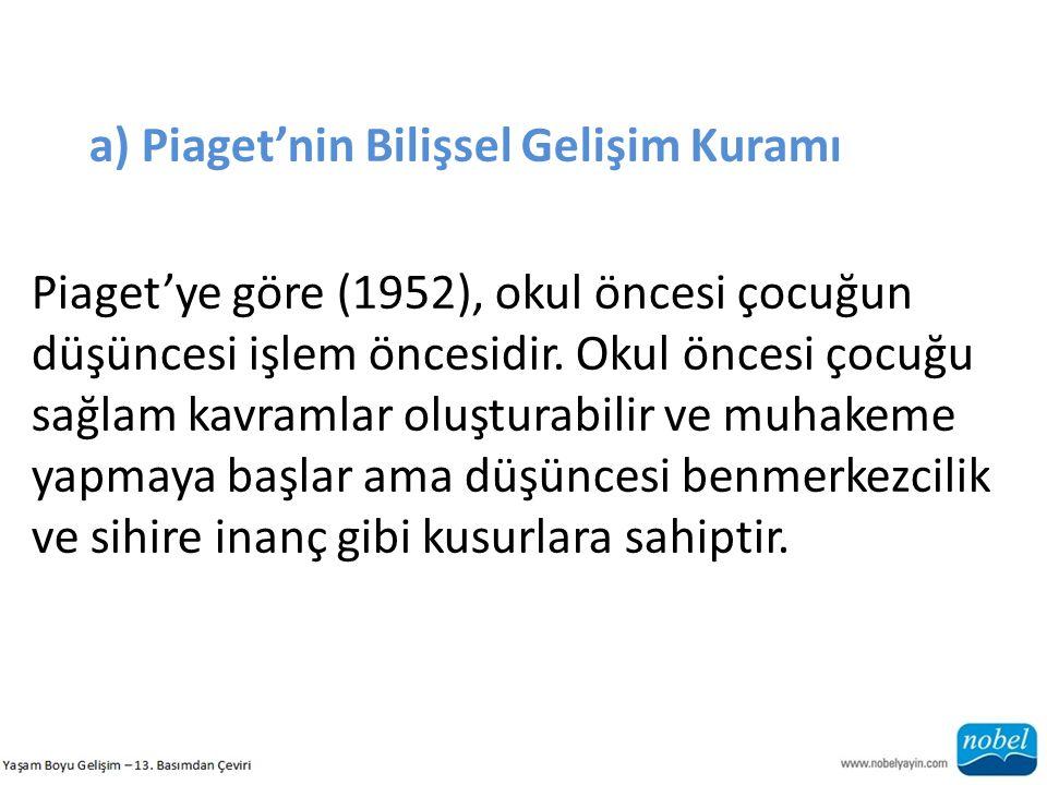 a) Piaget'nin Bilişsel Gelişim Kuramı