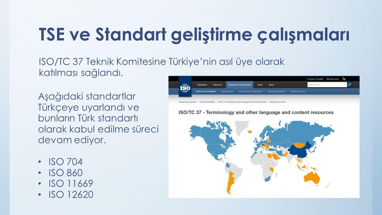 TSE ve Standart geliştirme çalışmaları