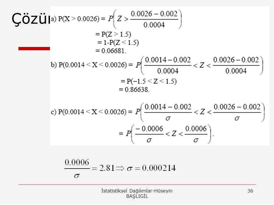 İstatistiksel Dağılımlar-Hüseyin BAŞLIGİL