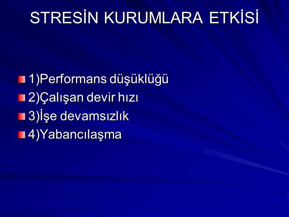 STRESİN KURUMLARA ETKİSİ
