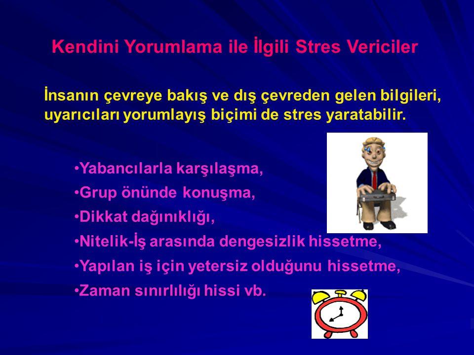 Kendini Yorumlama ile İlgili Stres Vericiler