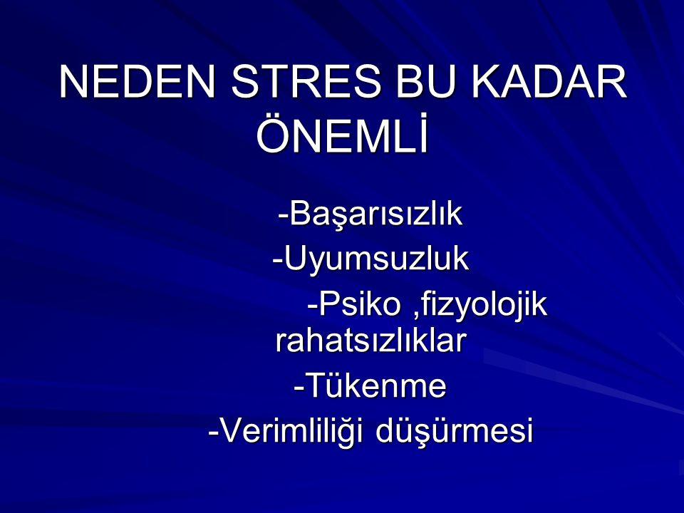 NEDEN STRES BU KADAR ÖNEMLİ