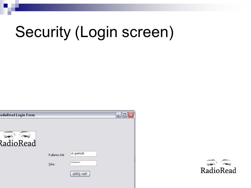 Security (Login screen)