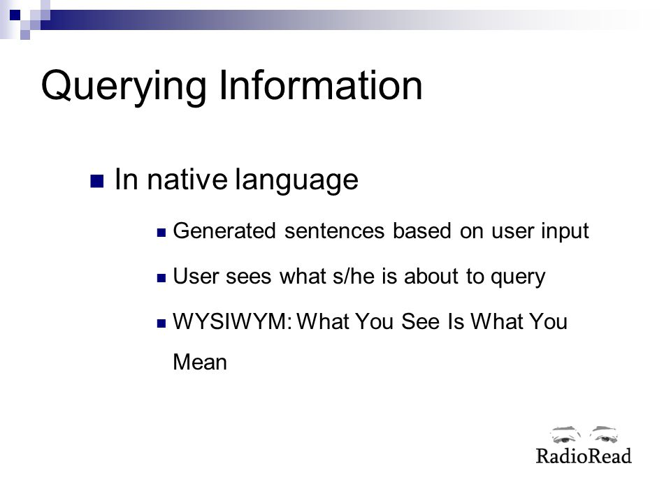 Querying Information In native language
