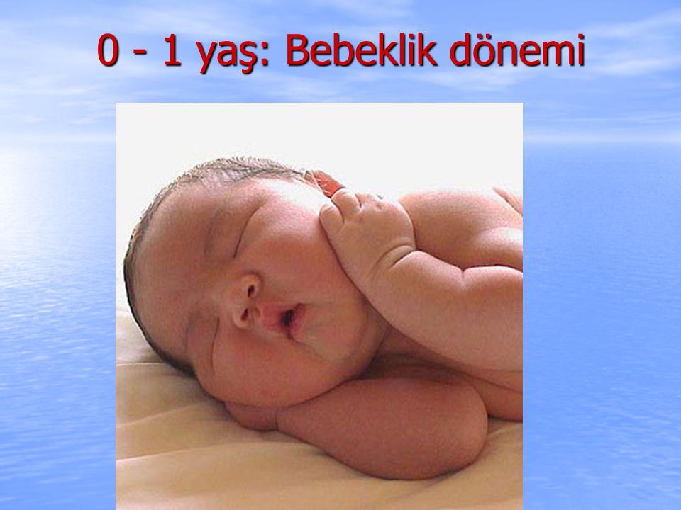 0 - 1 yaş: Bebeklik dönemi