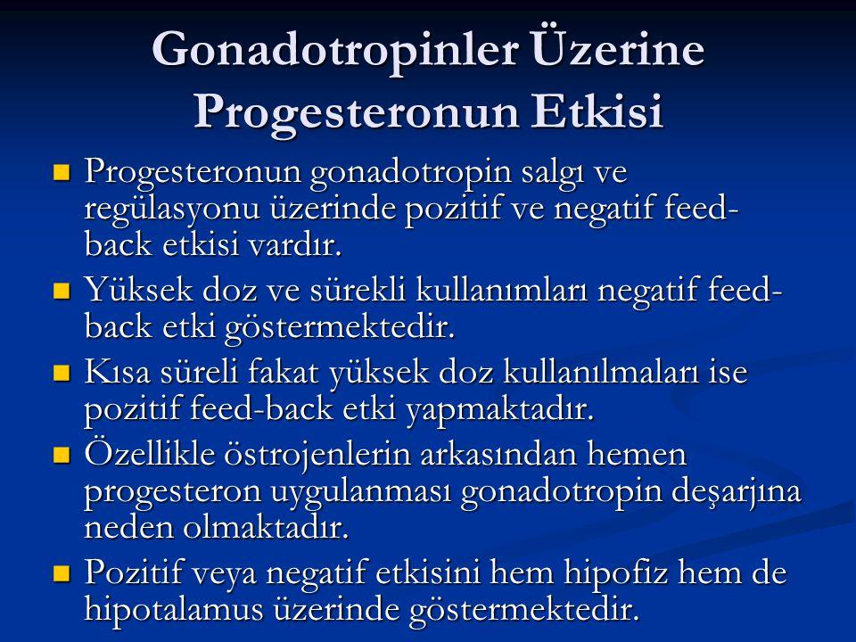 Gonadotropinler Üzerine Progesteronun Etkisi