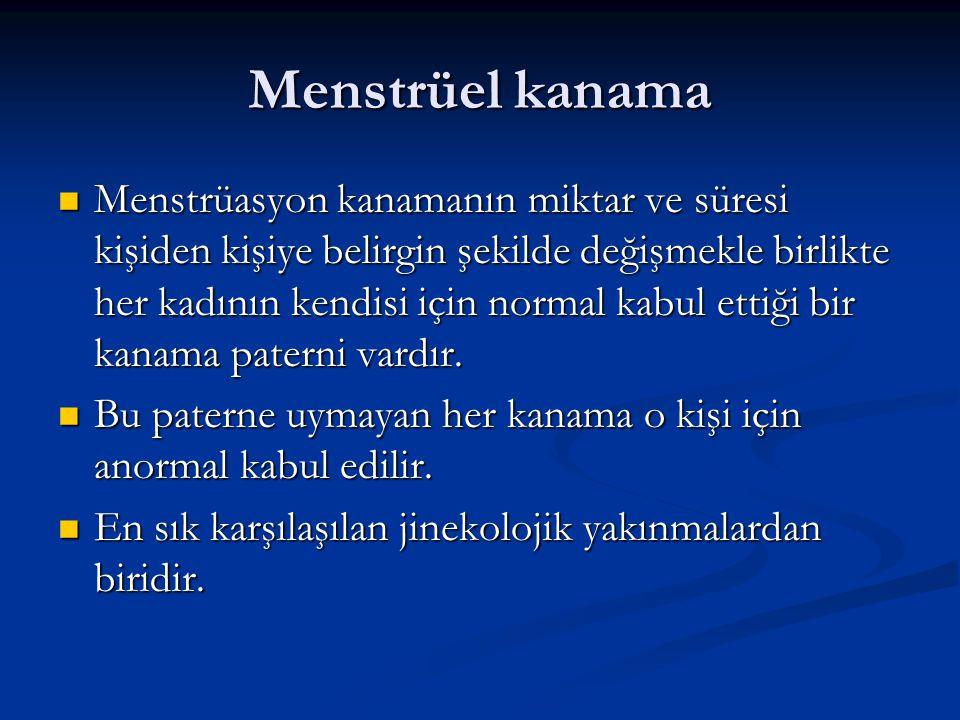 Menstrüel kanama