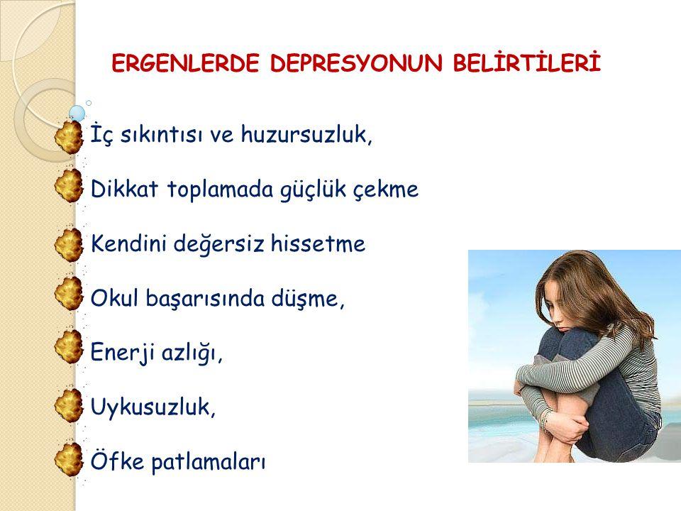 ERGENLERDE DEPRESYONUN BELİRTİLERİ