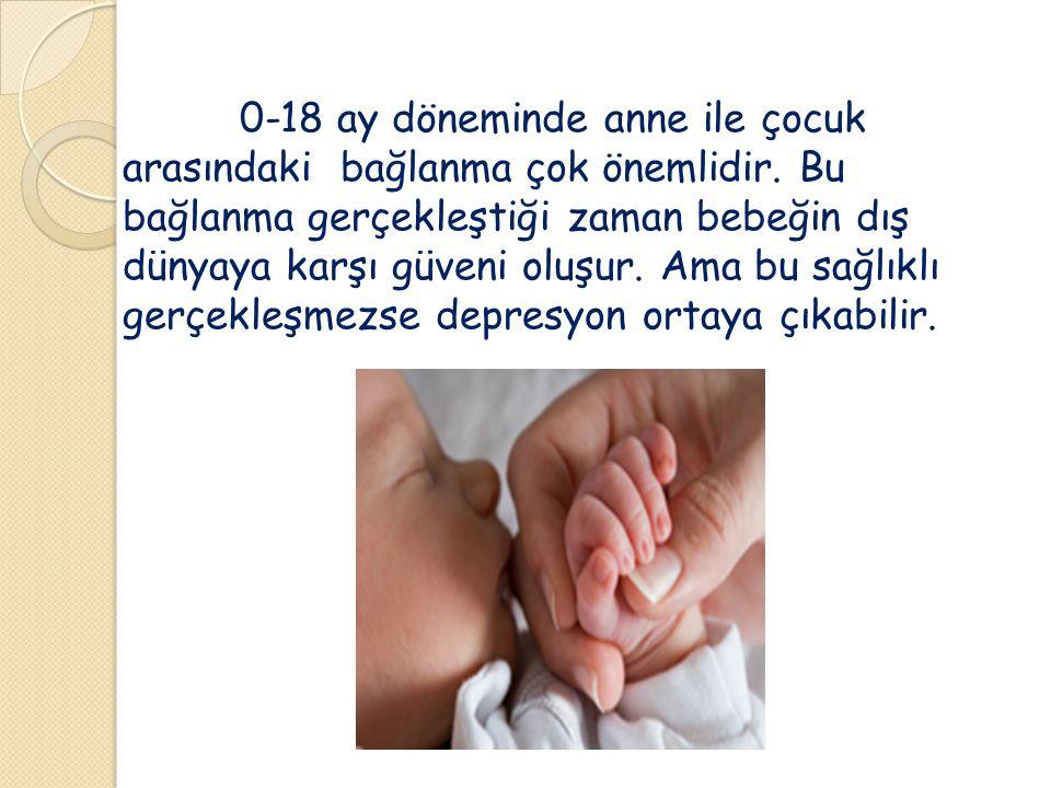 0-18 ay döneminde anne ile çocuk arasındaki bağlanma çok önemlidir