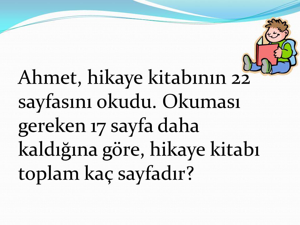 Ahmet, hikaye kitabının 22 sayfasını okudu