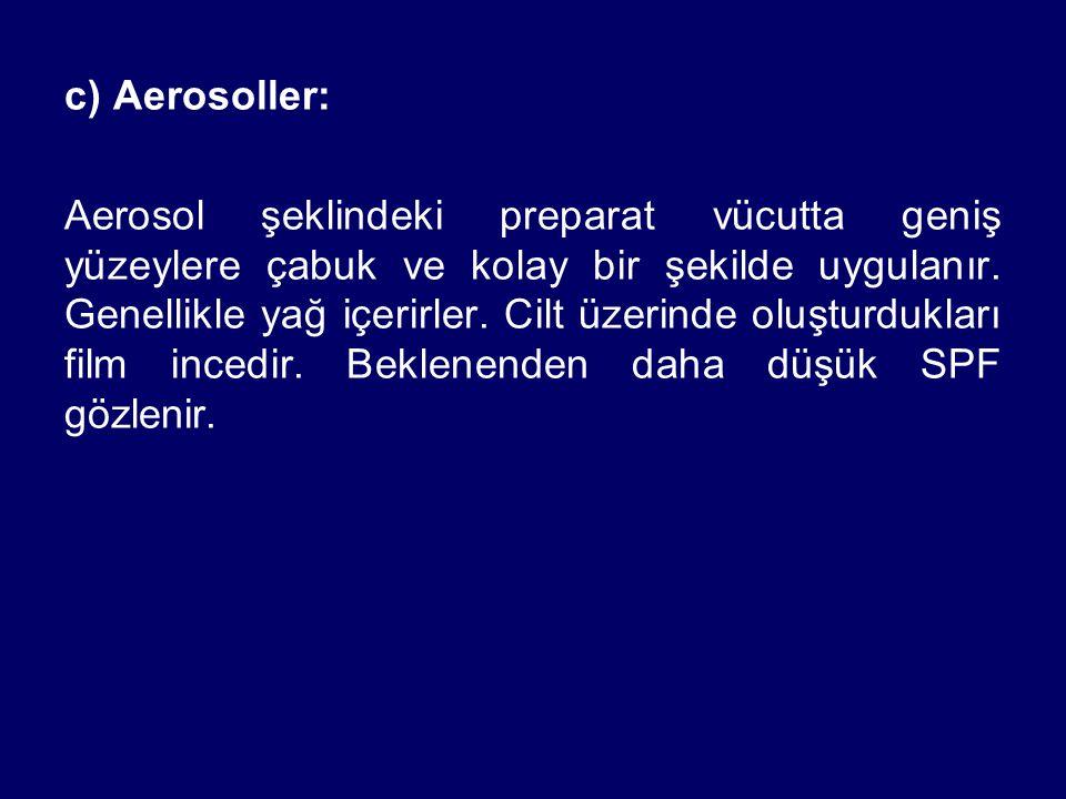 c) Aerosoller: