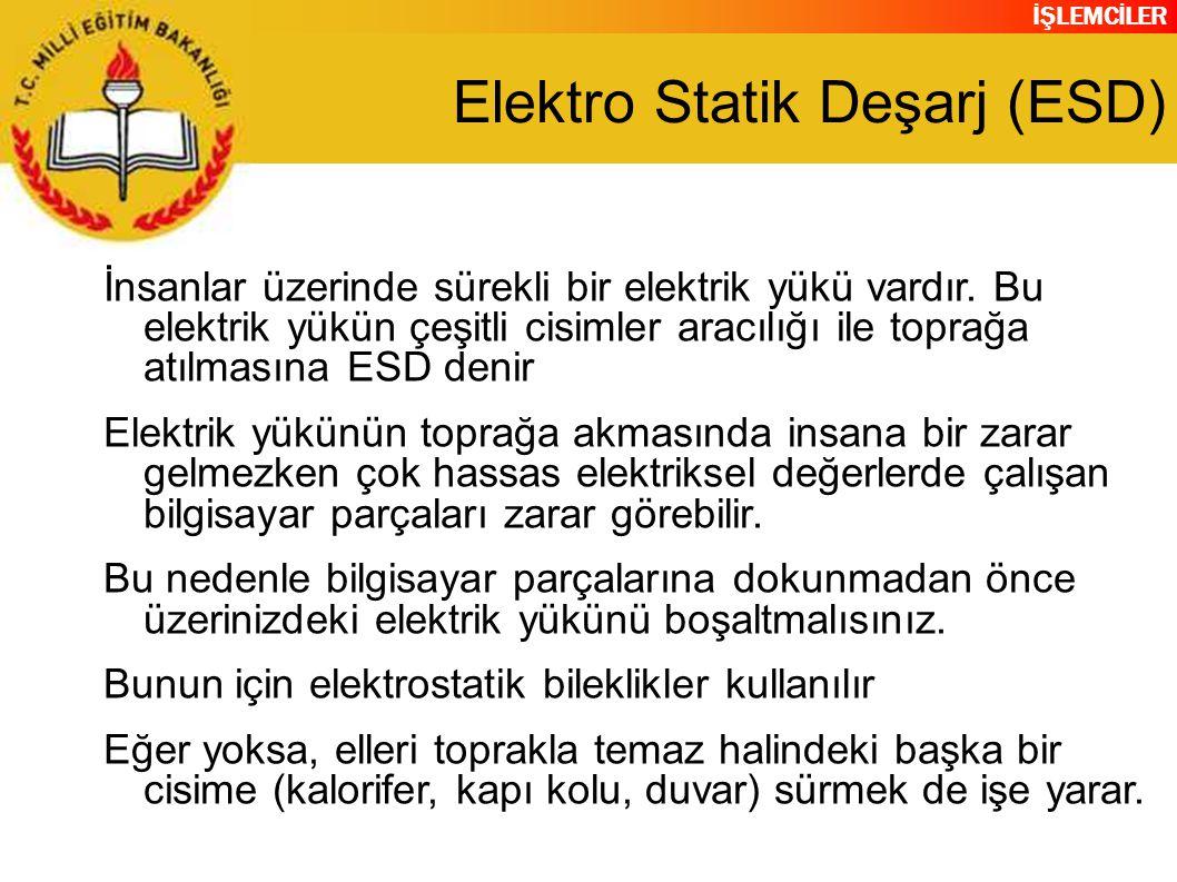 Elektro Statik Deşarj (ESD)