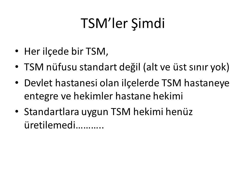 TSM'ler Şimdi Her ilçede bir TSM,