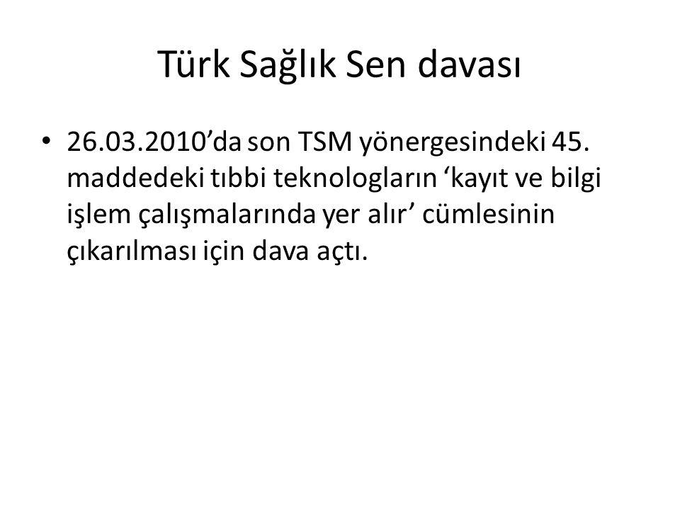 Türk Sağlık Sen davası