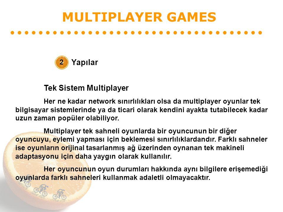 MULTIPLAYER GAMES Yapılar 2 Tek Sistem Multiplayer