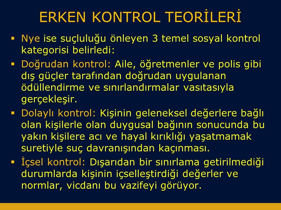 ERKEN KONTROL TEORİLERİ