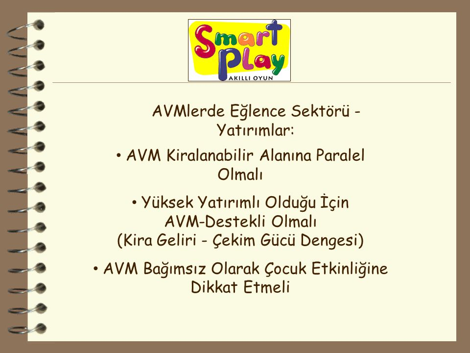 AVMlerde Eğlence Sektörü - Yatırımlar: