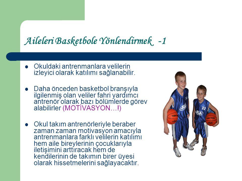 Aileleri Basketbole Yönlendirmek -1