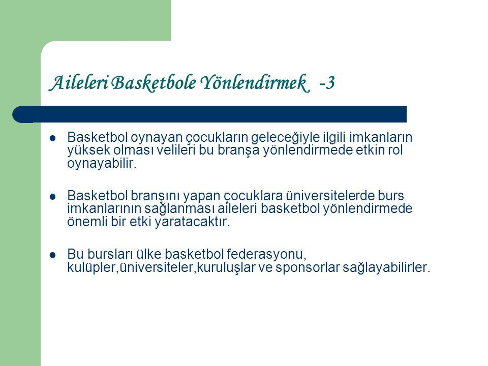 Aileleri Basketbole Yönlendirmek -3