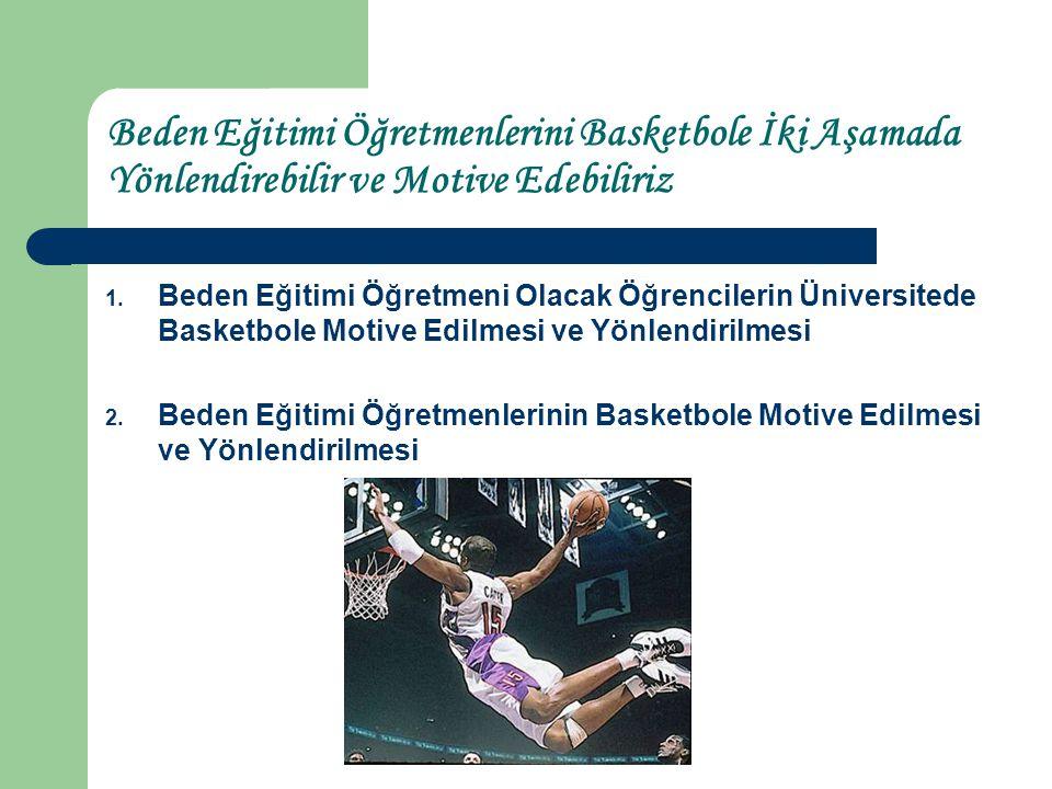 Beden Eğitimi Öğretmenlerini Basketbole İki Aşamada Yönlendirebilir ve Motive Edebiliriz