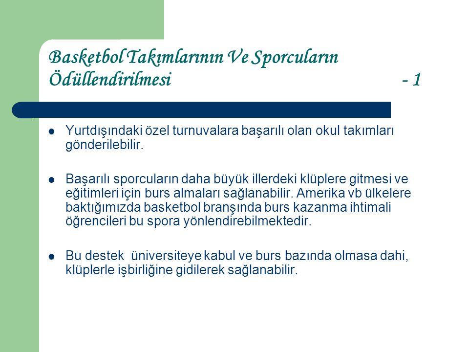 Basketbol Takımlarının Ve Sporcuların Ödüllendirilmesi - 1