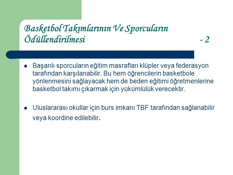 Basketbol Takımlarının Ve Sporcuların Ödüllendirilmesi - 2