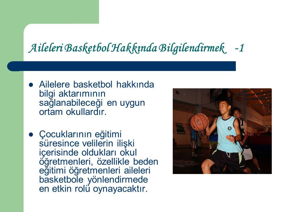 Aileleri Basketbol Hakkında Bilgilendirmek -1