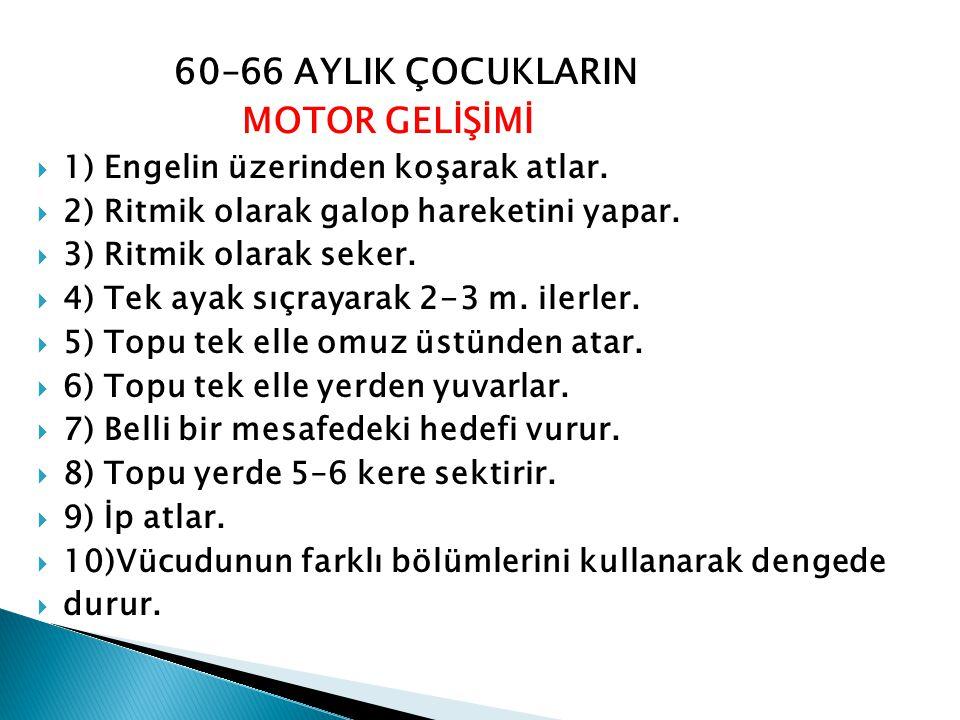60–66 AYLIK ÇOCUKLARIN MOTOR GELİŞİMİ