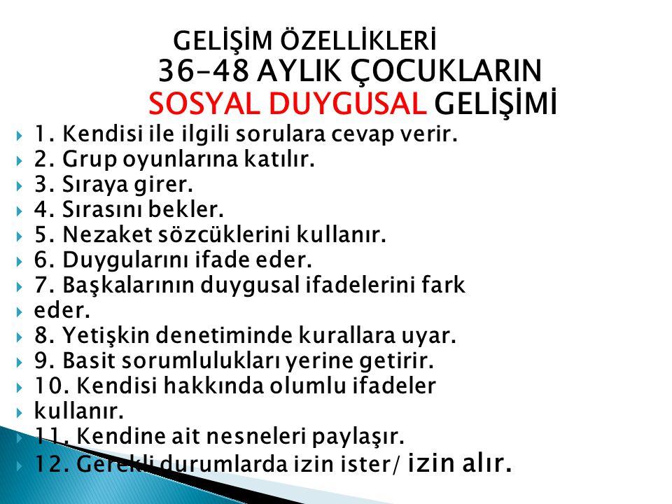 SOSYAL DUYGUSAL GELİŞİMİ