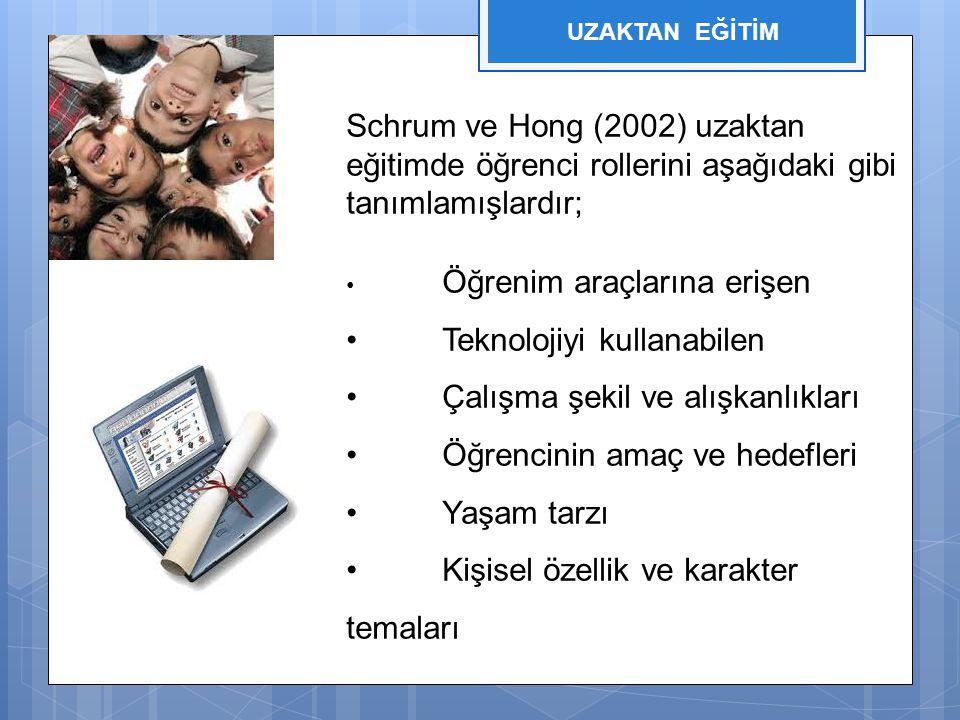 • Teknolojiyi kullanabilen • Çalışma şekil ve alışkanlıkları